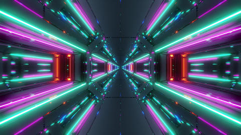bright clean futuristic scifi space galaxy hangar tunnel corridor with cool Animation