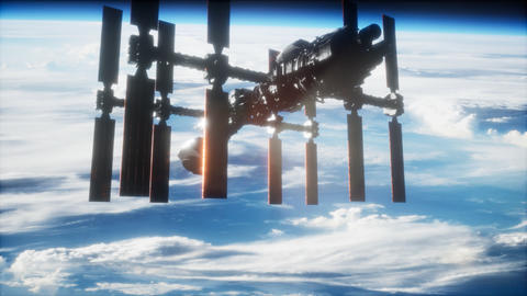International Space Station in outer space over the planet Earth Archivo