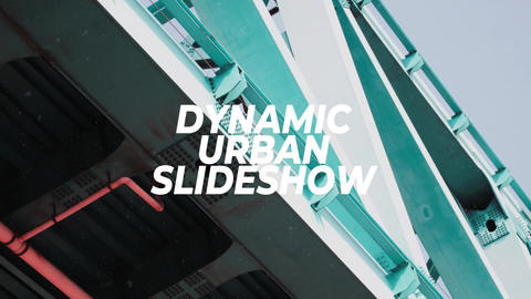 Dynamic Urban Slideshow Premiere Proテンプレート