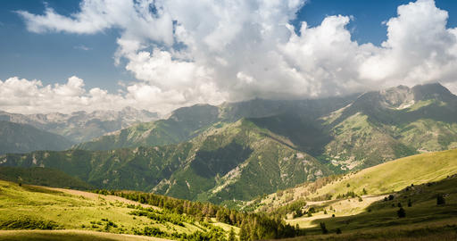 4K, Time Lapse, Clouds Over Italian Mountain Range Footage