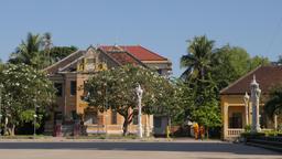 Monks walking around Wat Bo Knong,Battambang,Cambodia Footage