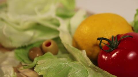 Salad Ingredient Footage