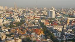 City view with Rama VIII bridge,Bangkok,Thailand Footage
