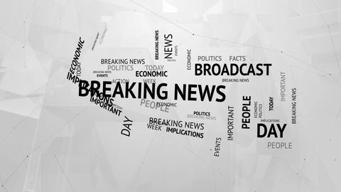 Breaking news tags concept background Stock Video Footage
