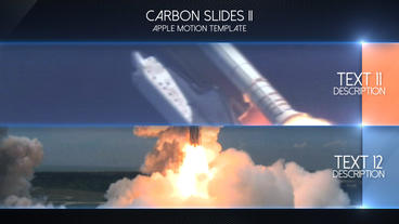 Carbon Slides II - Apple Motion and Final Cut Pro X Template Apple Motionテンプレート