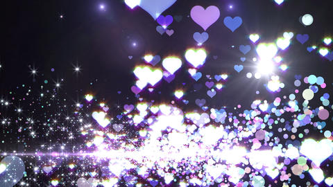 Lens Flares and Particles 16 heart D7 4k Animation