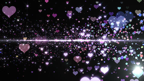 Lens Flares and Particles 16 heart F7 4k Animation