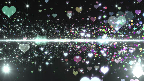 Lens Flares and Particles 16 heart G7b 4k Animation