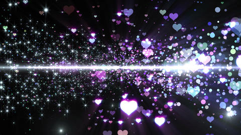 Lens Flares and Particles 16 heart R7 4k Animation