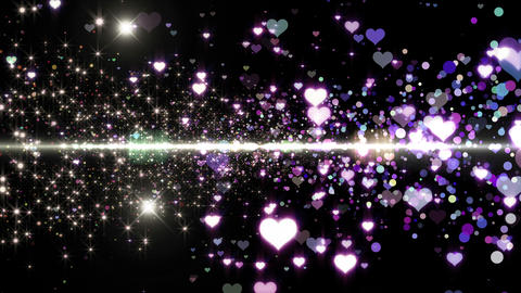 Lens Flares and Particles 16 heart U7b 4k Animation