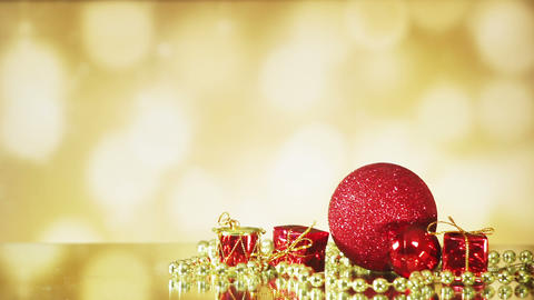 christmas decorations on shiny background seamless loop Footage
