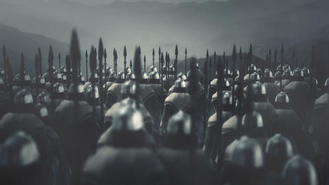 Great Army of Viking Warriors Ready for Battle Live Action