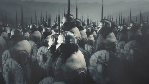 Massive Viking Army Ready for Battle Live Action