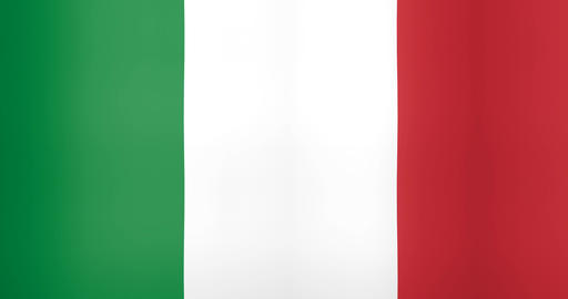 Waving Flag of Italy Looping Background Stock Video Footage