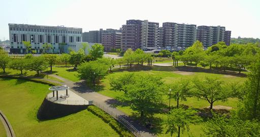 Japan,Tokyo,Inagi,Wakabadai,Keio,Drone,sky,Nature Stock Video Footage