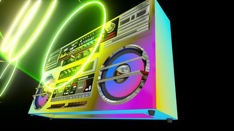 Boombox Audio Player CG動画