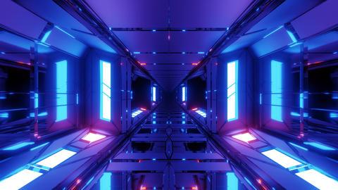 unique high contrast futuristic space scifi hangar tunnel corridor 3d Animation