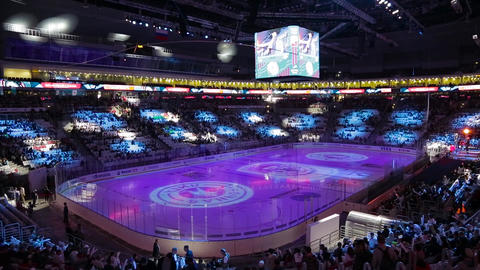 Light show on the ice arena 009 Live Action