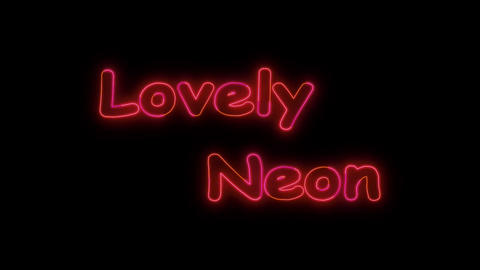 LovelyNeon After Effects Template
