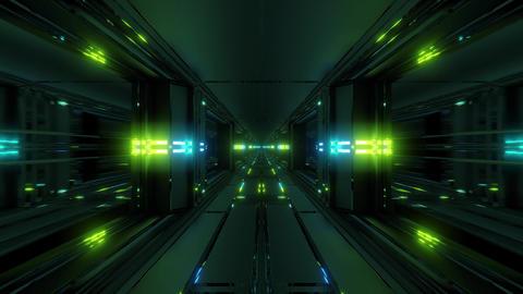 clean futuristic scifi fantasy space hangar tunnel corridor with nice Animation