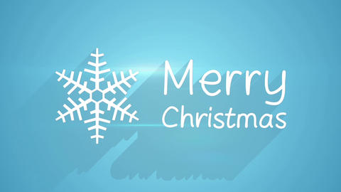 merry christmas card with long shadows Animation