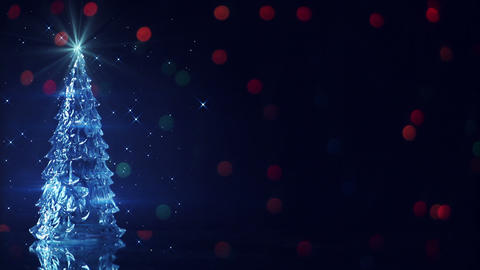 christmas tree and blinking stars seamless loop Footage