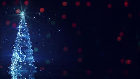 christmas tree and blinking stars seamless loop Footage