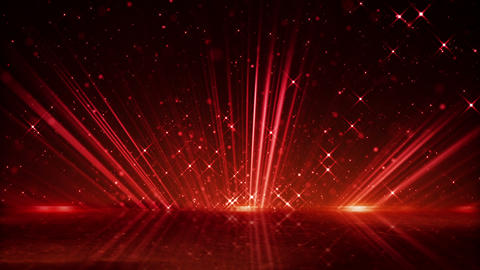 red light beams and shimmering particles loopable background Animation