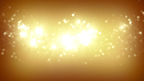 gold fireworks slowmotion loopable background Animation