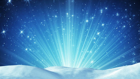 snowdrift and magic light rays seamless loop Animation