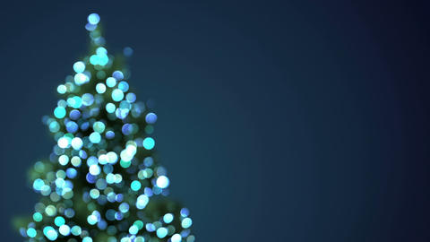 blurred christmas tree blue lights loopable Animation