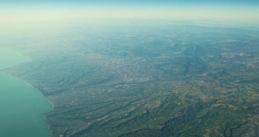 Aerial View Of Planet Earth As Seen From 40.000 Feet Altitude Footage