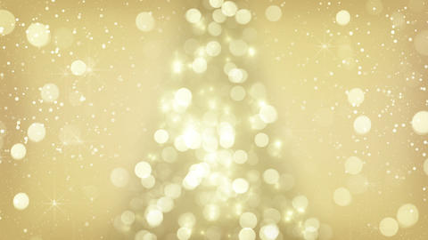 golden christmas tree symbol seamless loop Animation
