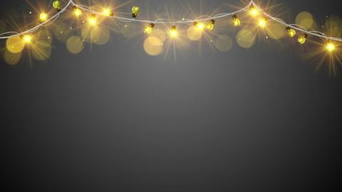 christmas yellow light bulbs loopable animation Animation