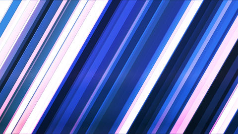 Broadcast Twinkling Slant Hi-Tech Bars, Blue, Abstract, Loopable, 4K Animation