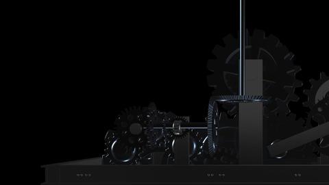 Machine Gears - Loop - Alpha - III Animation