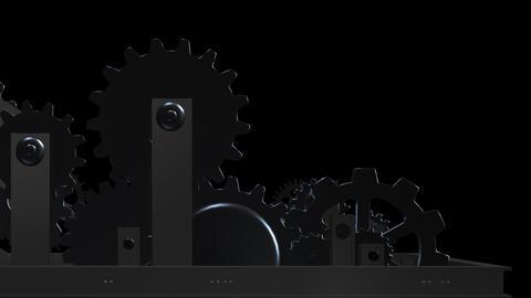 Machine Gears - Loop - Alpha - VI Animation