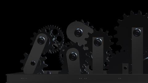 Machine Gears - Loop - Alpha - VII Stock Video Footage