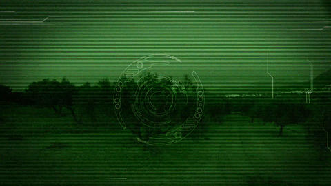 Cyber Eye interference Stock Video Footage