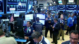 TRADERS ON THE NYSE FLOOR INSIDE NEW YORK STOCK EXCHANGE Footage