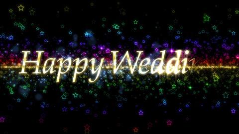 happy wedding 結婚おめでとう メッセージ CG動画