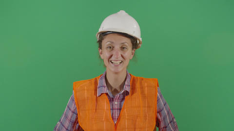 Woman Engineer Laughing Out Loud Live Action