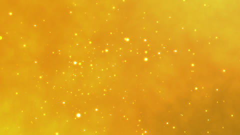 Golden bokeh flowing and glittering around. magic moment. elegant background. glitter feel. bright Animation