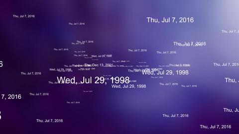 New year 2020 - random dates on purple background Animation