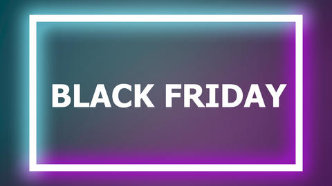 Black friday blinking glowing neon banner Live Action