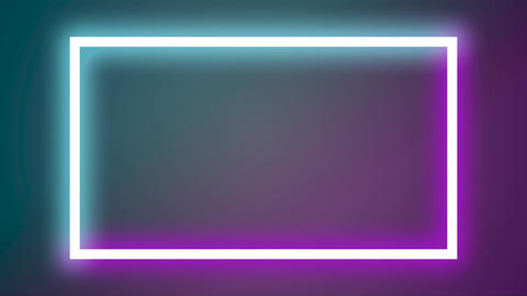 Blinking glow neon purple and blue banner Live Action