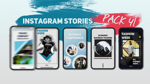 Instagram Stories Pack 41 After Effects Template