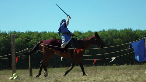 Knights participate in knightly contests Live Action