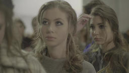 Backstage fashion show. Girls before going on the show Footage