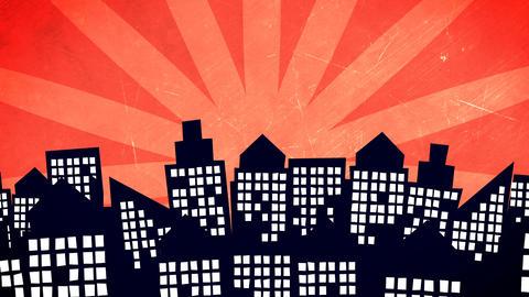cartoon city buildings Animation